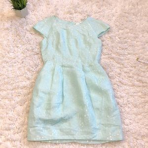 Club Monaco mint sparkly pebbled party dress